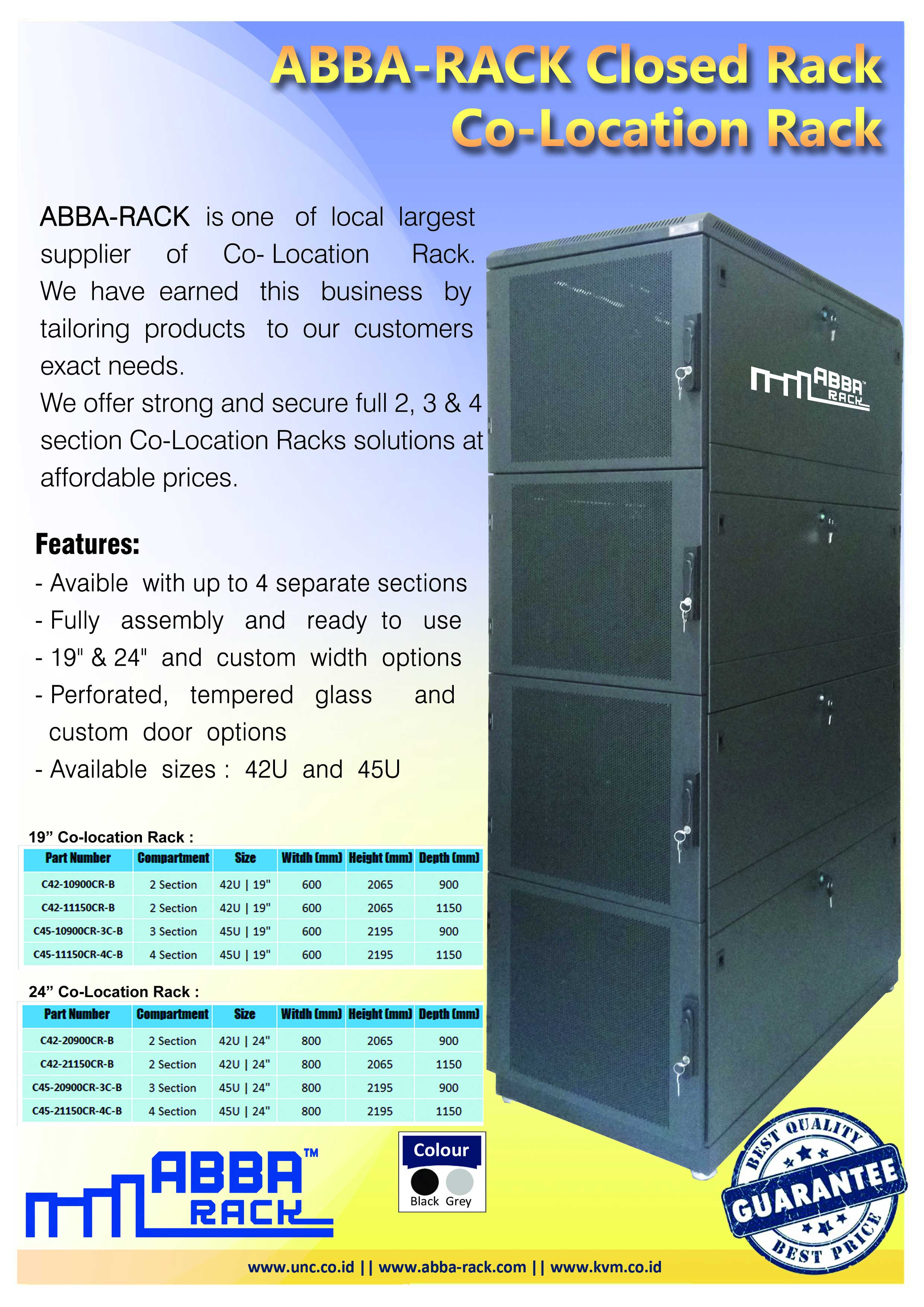 distributor rack server, colocation rack