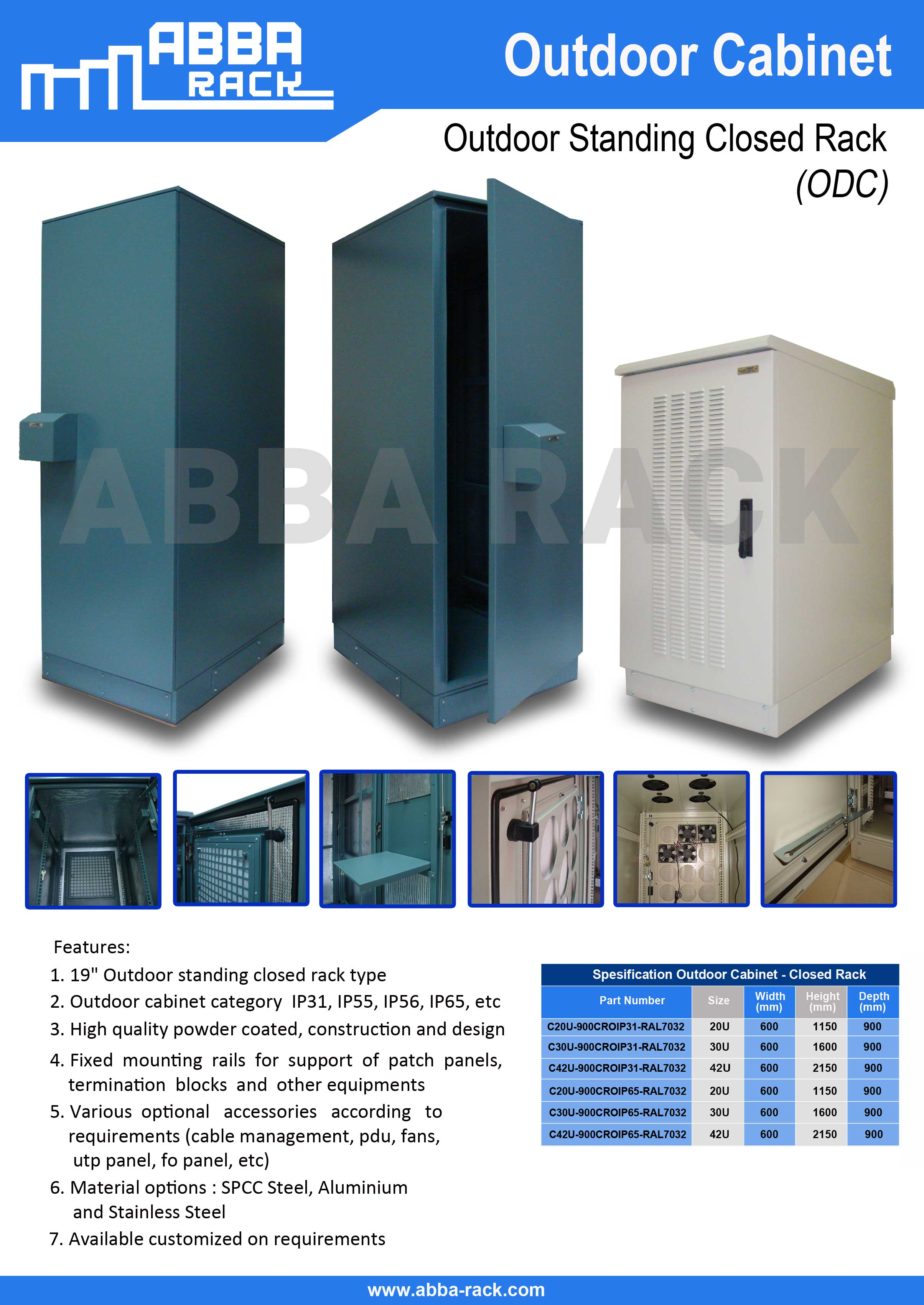 rack server abba, rack outdoor, rack telco