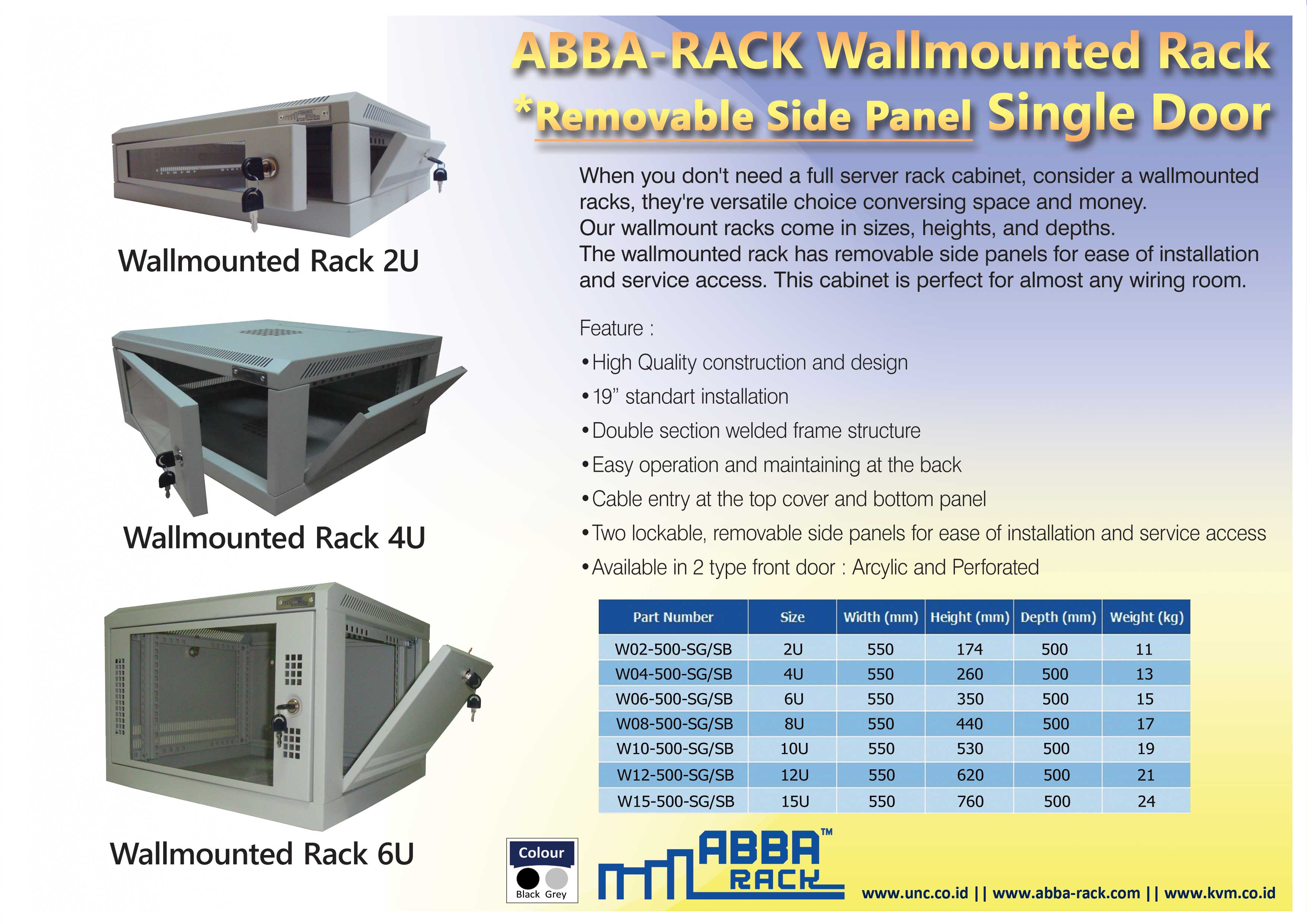 distributor rack server, wallmount rack 8u